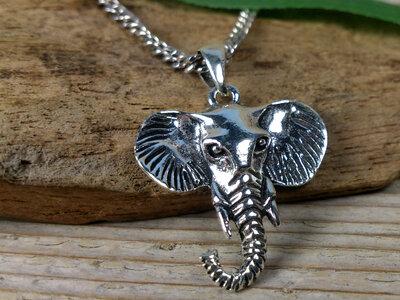 hanger olifant zilver
