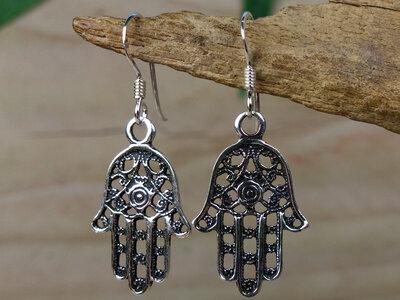 oorbellen Handje van Fatima zilver