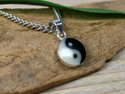 hangertje yin yang zilver Ø 8mm