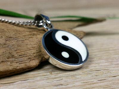 hanger yin yang zilver Ø 16mm