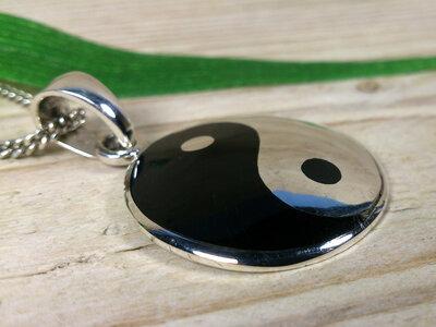 hanger yin yang zilver Ø 26mm