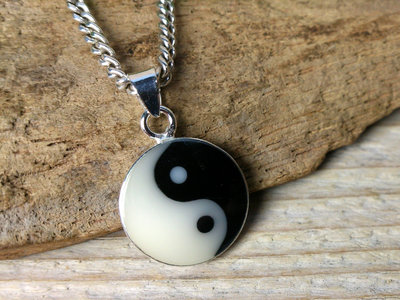 hanger yin yang zilver Ø 14mm