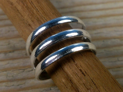 teenring zilver abstract (begin-maat 13mm)