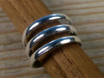 teenring zilver abstract (maat 13mm)