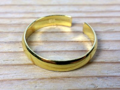 teenring goud-op-zilver (begin-maat 14,5mm)