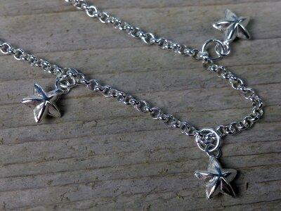 enkelketting sterretjes bedels zilver