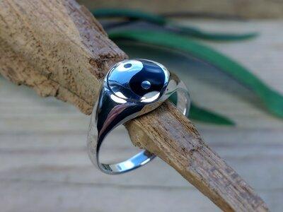 ring yin yang zilver