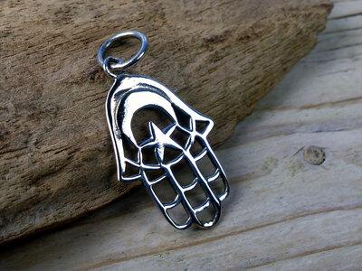 hanger Handje van Fatima zilver