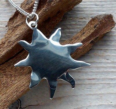 hanger zon/ster zilver