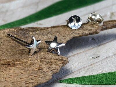 zilveren sterren oorknopjes