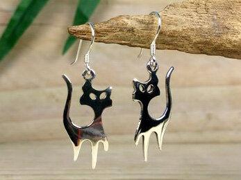 oorbellen katten zilver