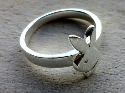ring 'bunny' zilver (maat 16½ - 17)