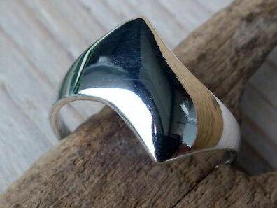 ring strak design zilver (maat 16¾ - 17 - 17¼ - 18 - 18¼)