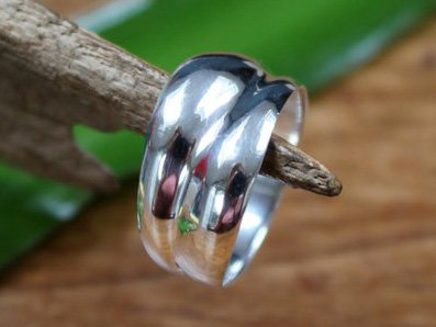 ring strak design zilver (maat 17¾ - 18½)