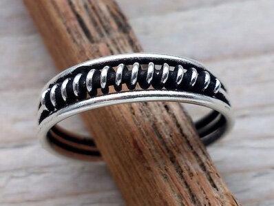 teenring zilver wrap (begin-maat 17mm)