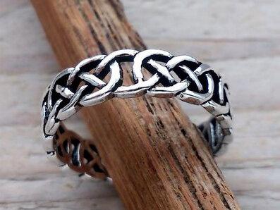 teenring zilver keltische knoop (maat 16mm)