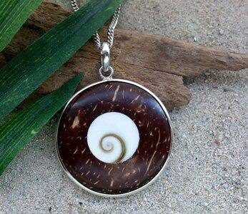 hanger Shiva Oog kokos-zilver