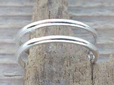 teenring zilver abstract (begin-maat 15mm)