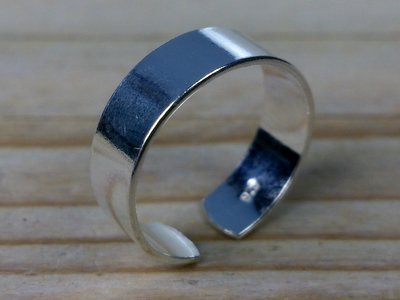 teenring zilver glad 5 mm (maat 15mm)