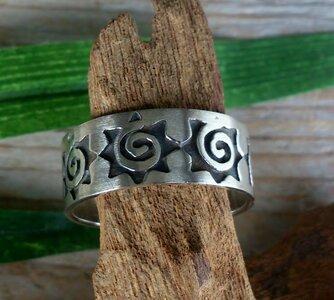 ring zon/ster zilver (maat 22½ - 23)
