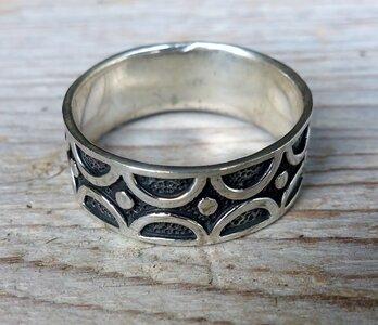 ring fantasie zilver (maat 19½ - 20¼ - 20½ - 21 - 21¼)