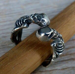 ring skelet zilver