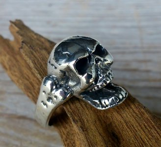 ring skull false zilver