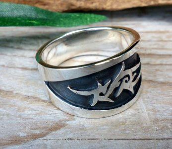 ring tribal zilver