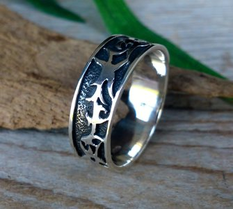 ring tribal zilver (maat 22¼ - 23)