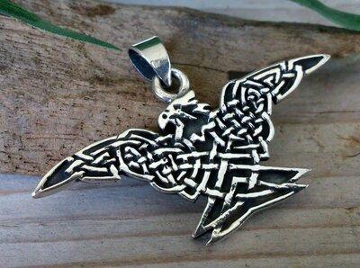 hanger adelaar met keltisch motief zilver