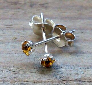 oorknopjes goudgeel zilver Ø 3mm