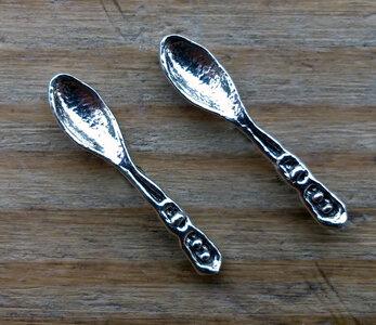 oorknopjes lepel zilver