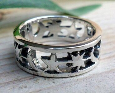 ring sterren zilver
