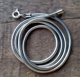 slangenketting-dikte 2mm-lengte 40-50-55 cm v.a.