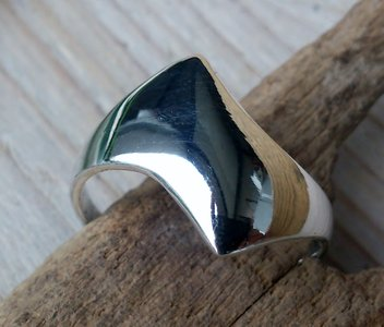 ring strak design zilver