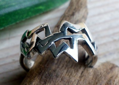 ring strak design zilver (maat 16¾ - 17 - 18 - 19)