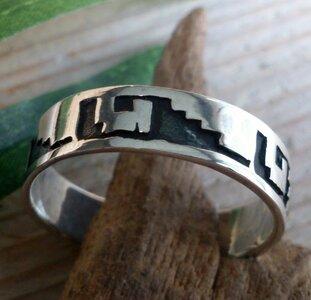 ring grieks motief zilver (maat 16½ - 18¼ - 22¾) v.a.