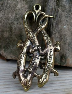 hanger gekko's bronskleur