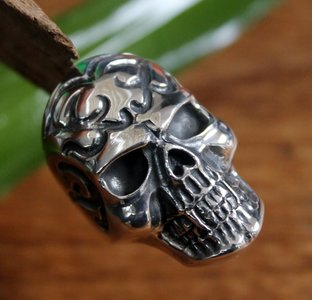 ring skull xl zilver