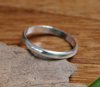 ring strak design bol 3mm zilver