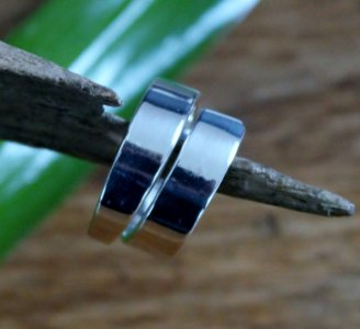 ring strak design zilver (maat 16½)
