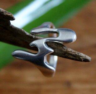 ring strak design zilver (maat 16¼ - 16½ - 19) v.a.