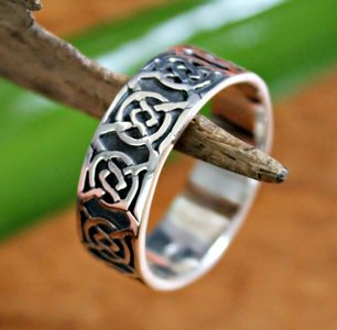 ring keltische knoop zilver