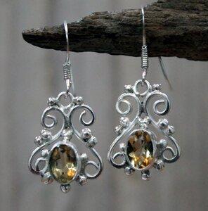 oorbellen geel zilver