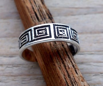 teenring zilver grieks (begin-maat 15mm)