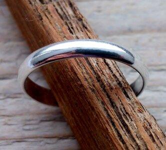 teenring zilver bol 3mm (begin-maat 14,5mm)