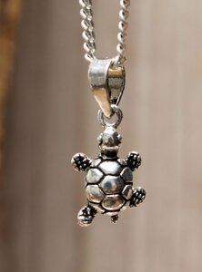 hanger schildpadje zilver