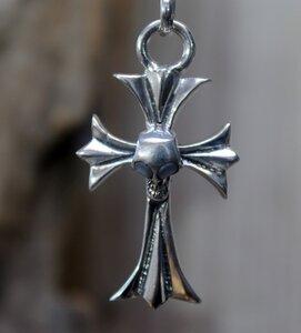 hanger kruis skull zilver