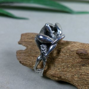 ring 'ondeugend' zilver v.a.