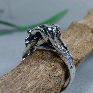 ring 'ondeugend' zilver (maat 16¼ - 17 - 18 - 18½) v.a.